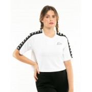 Kappa T-Shirt Kappa Crop Bianco