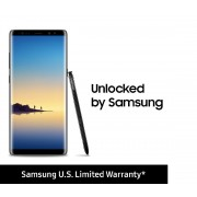 "Samsung SM-N950UZKAXAA Galaxy Note8 (US Version) Factory Unlocked Phone - 6.3"" Screen - 64GB - Midnight Black"