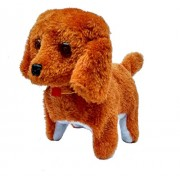 M-Alive Walking Barking Tail Wagging Cute Puppy Dog Kids Fun Toys (Multicolor)