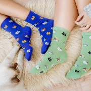 Set 5 perechi sosete colorate Pisici