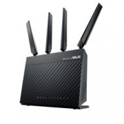 Рутер Asus 4G-AC68U, 3G/4G, 1900Mbps, 2.4GHz(600 Mbps) / 5GHz(1300 Mbps), Wireless AC, 4x LAN1000, 1x WAN1000, 1x USB 3.0, 1x SIM слот, 4x външни антени, 1x вътрешна антена