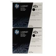 HP 42X Black Toner Cartridge Q5942XD Dual Pack