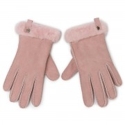 Ръкавици UGG - W Shorty Glove W Leather Trim 17367 Pink Crystal