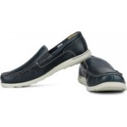 Clarks Redruth Step Loafers For Men(Navy, Beige)