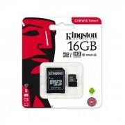 Kingston microSDHC 16GB C10/UHS-I/U1 SDCS/16GBSP