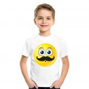 Bellatio Decorations Smiley t-shirt snor wit kinderen