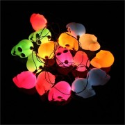 16 LED Colorful Skull String Light Lamp Halloween Bar Deoration