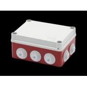 Doza aparenta A 1/4 TURN - IP55 - dimensiuni interioare 150X110X70 - WALLS cu presetupe - GWT960'ºC - GREY - BOX RED