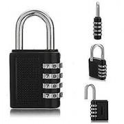 4 Digit Metallic Number Lock Small Bag Lock Travel Lock Luggage Re-Settable Password Locks Combination Padlock