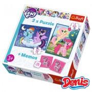 Trefl Puzzle 2u1 i Memos MLP (12-906011)