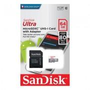 SanDisk Ultra microSDXC 64GB, Klass 10 (80MB/s) + Adapter