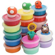 SR GIFTS Air Dry Clay, 12 Colorful Ultra Light Molding Magic Non-Toxic Clay, Best Kids Gifts Ever