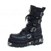 bőr csizma - Basic Boots (373-S4) Black - NEW ROCK - M.373-S4