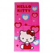 Плажна кърпа Hello Kitty 75X150 Red Hearts розова