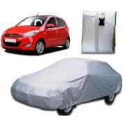 Autoplus car cover for Hyundai I-10 Car Body Cover Silver Color.