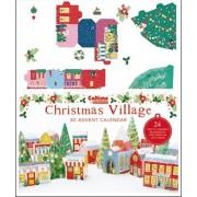 3D adventskalender A4+ - bouw een dorpje in kerstsfeer - kleurig