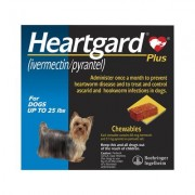 Heartgard Plus Chewables Small Dogs up to 25lbs (Blue) 6 DOSES