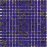 Mozaiektegel Amsterdam Medium Blue Golden Vein Glass 322x322