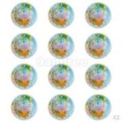 Alcoa Prime 24Pcs Solid World Map Sponge Ball Pet Toys Stress Relief Bouncy Balls Gift 6. 3cm