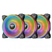 THERMALTAKE VENTOLA RIING QUAD 14 RGB RADIATOR PACK 3 VENTOLE 140MM PREMIUM EDI BK
