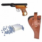 Prijam Air Gun Bmw-2 Model With Metal Body For Target Practice Combo Offer 300 Pellets With Cover Air Gun