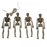 Akasztható csontváz dísz 4 db-os
