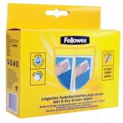 Set 12 seturi de servetele pentru curatare monitor, FELLOWES