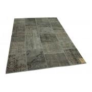Rozenkelim patchwork vloerkleed grijs 235cm x 168cm