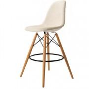 Charles Eames barkruk DD DSW barkruk upholstered beige