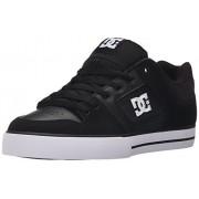 DC Men's Pure Skate Shoe, Black/Black/White, 17 M US