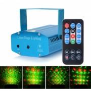 HML Doce Patrones 50mW Verde + 100mW Proyector de Iluminacion de Laser Rojo con 18 teclas RC / Tripode
