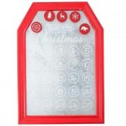 Geen Kerst decoratie planbord / magneetbord rood 31 x 45 cm