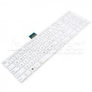 Tastatura Laptop Toshiba Satellite C855D-S5230 alba cu rama + CADOU