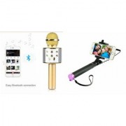 Zemini Q7 Microphone and Selfie Stick for ASUS PEGASUS 500(Q7 Mic and Karoke with bluetooth speaker | Selfie Stick )
