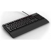 Tipkovnica Fnatic Gear Rush Blue, USB, Mehanička, Cherry MX Blue, osvjetljenje, crna, 24mj, UK layout, (1202003-1201)