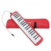 Alcoa Prime 37 Key Melodica Musical Instrument W/ Carry Bag Music Learning Kids Toys Red