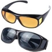 GREE Wrap-around Sunglasses(Blue, Yellow)