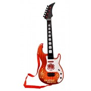 Toyshine Musical Guitar with Music, Lights and Pre-Loaded Sounds, Brown
