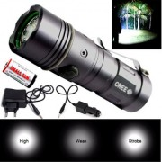 Waterproof Rechargeable 450 Meter Long Beam 3 Mode LED Flashlight Torch Searchlight Outdoor Lamp/Emergency Light 10W