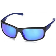 Arnette AN4242 Fastball 2.0 anteojos de sol rectangulares para hombre, Negro mate/Verde Espejo Azul claro, 62 mm