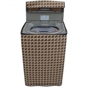 Dream CareAbstract Brown coloured Waterproof & Dustproof Washing Machine Cover For Godrej WT 650 CF Fully Automatic Top Load 6.5 kg washing machine