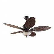 Deckenventilator CARIBBEAN BREEZE Rotorblatt-Ø 1320 mm Weidengeflecht dunkel / Bronze verwittert