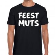 Bellatio Decorations Fun t-shirt feestmuts zwart voor heren