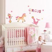 Stickere perete copii Circ vesel - 134 x 70 cm