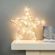 Függő csillag LED dekoráció meleg fehér – 78 cm
