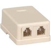 NetiX RJ11 Surface Mount Box Double, Retail Box,