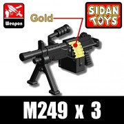 Si-Dan Toys M249 Light Machine Gun (Black), LEGO Compatible Minifigure Piece