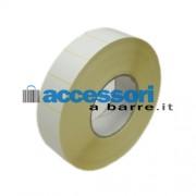 Etichette adesive in carta Vellum 40 x 30 mm per stampanti Industriali a trasferimento termico (ribbon necessario)