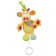 Jucarie muzicala girafa Brevi soft toys
