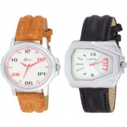 I smart Brand Smart Look Leather Watch 2 - 6 for Men combo watches Watch - For Men